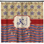 Vintage Stars & Stripes Shower Curtain (Personalized)