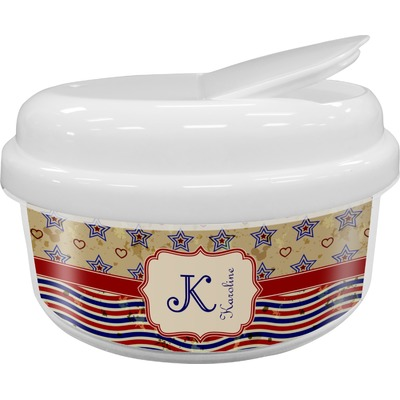 Vintage Stars & Stripes Snack Container (Personalized)