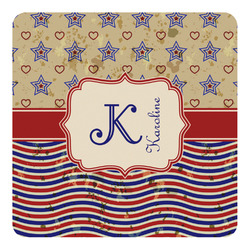 Vintage Stars & Stripes Square Decal - Custom Size (Personalized)