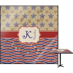 Vintage Stars & Stripes Square Table Top (Personalized)