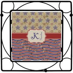 Vintage Stars & Stripes Square Trivet (Personalized)
