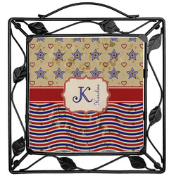 Vintage Stars & Stripes Trivet (Personalized)