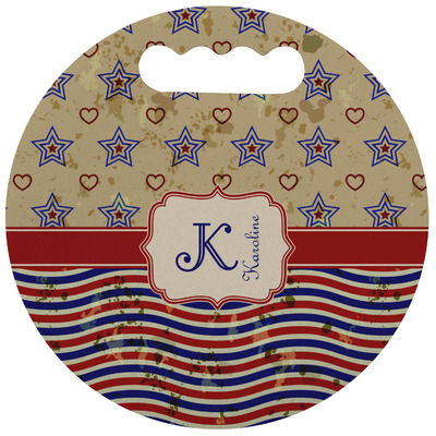 Vintage Stars & Stripes Stadium Cushion (Round) (Personalized)