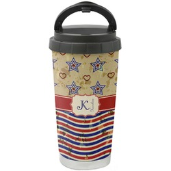 Vintage Stars & Stripes Stainless Steel Coffee Tumbler (Personalized)