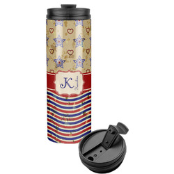 Vintage Stars & Stripes Stainless Steel Tumbler (Personalized)