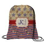Vintage Stars & Stripes Drawstring Backpack (Personalized)