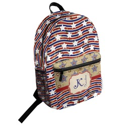 Vintage Stars & Stripes Student Backpack (Personalized)