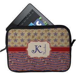 Vintage Stars & Stripes Tablet Case / Sleeve (Personalized)