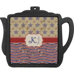 Vintage Stars & Stripes Teapot Trivet (Personalized)