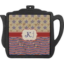 Vintage Stars & Stripes Teapot Trivet (Personalized)