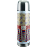 Vintage Stars & Stripes Stainless Steel Thermos (Personalized)