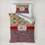 Vintage Stars & Stripes Toddler Bedding w/ Name and Initial