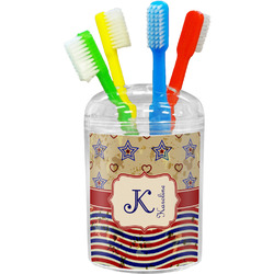 Vintage Stars & Stripes Toothbrush Holder (Personalized)