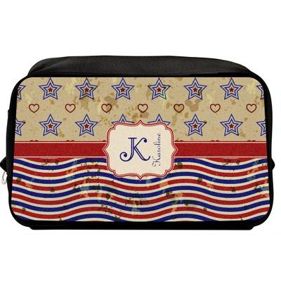Vintage Stars & Stripes Toiletry Bag / Dopp Kit (Personalized)