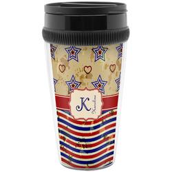 Vintage Stars & Stripes Travel Mug (Personalized)