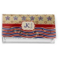 Vintage Stars & Stripes Vinyl Check Book Cover (Personalized)