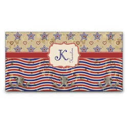 Vintage Stars & Stripes Wall Mounted Coat Rack (Personalized)