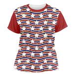 Vintage Stars & Stripes Women's Crew T-Shirt (Personalized)