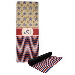 Vintage Stars & Stripes Yoga Mat (Personalized)