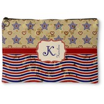 Vintage Stars & Stripes Zipper Pouch (Personalized)