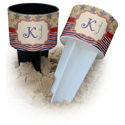 Vintage Stars & Stripes Beach Spiker Drink Holder (Personalized)
