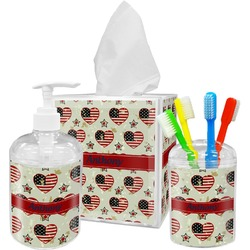 Americana Bathroom Accessories Set (Personalized)