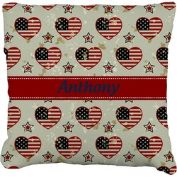 Americana Faux-Linen Throw Pillow (Personalized)