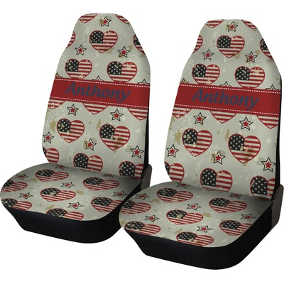 Americana Car Seat Covers (Set of Two) (Personalized)