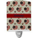 Americana Ceramic Night Light (Personalized)