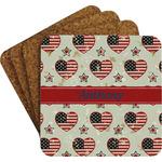 Americana Coaster Set w/ Stand (Personalized)