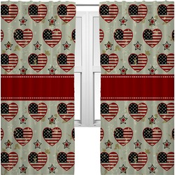 Americana Curtains (2 Panels Per Set) (Personalized)