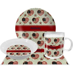 Americana Dinner Set - 4 Pc (Personalized)