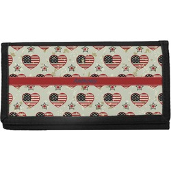 Americana Canvas Checkbook Cover (Personalized)