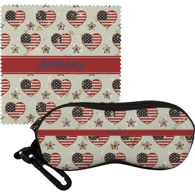 Americana Eyeglass Case & Cloth (Personalized)