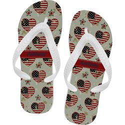 Americana Flip Flops (Personalized)