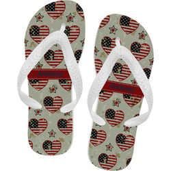 Americana Flip Flops (Personalized)