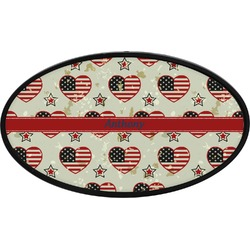 Americana Oval Trailer Hitch Cover (Personalized)