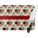 Americana Rectangular Glass Cutting Board (Personalized)