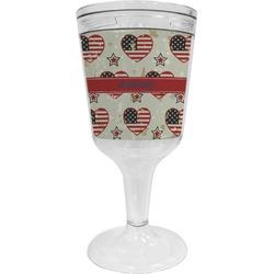 Americana Wine Tumbler - 11 oz Plastic (Personalized)