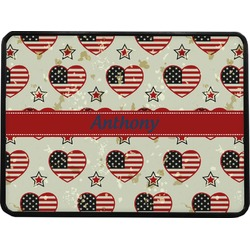 """Americana Rectangular Trailer Hitch Cover - 1.25"""" (Personalized)"""