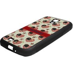 Americana Rubber Samsung Galaxy 4 Phone Case (Personalized)