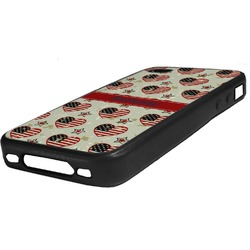 Americana Rubber iPhone Case 4/4S (Personalized)