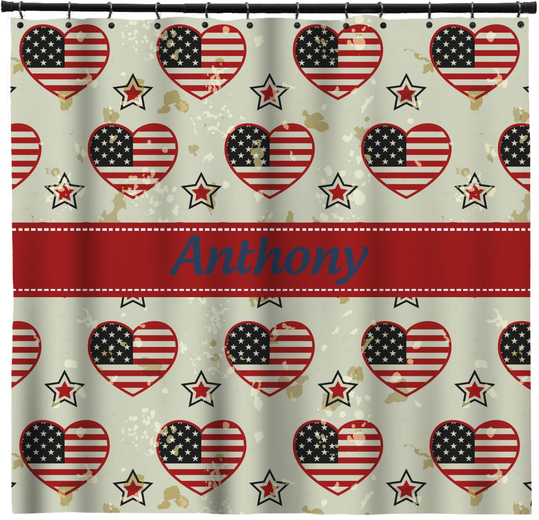 Americana Shower Curtain (Personalized) - YouCustomizeIt