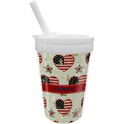 Americana Sippy Cup with Straw (Personalized)