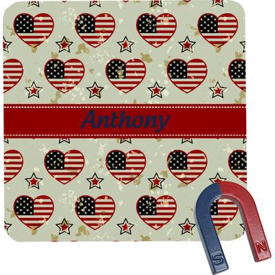 Americana Square Fridge Magnet (Personalized)