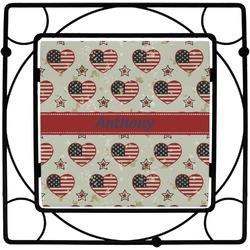 Americana Square Trivet (Personalized)