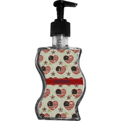 Americana Wave Bottle Soap / Lotion Dispenser (Personalized)