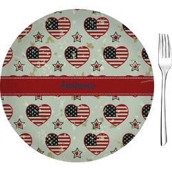 "Americana 8"" Glass Appetizer / Dessert Plates - Single or Set (Personalized)"