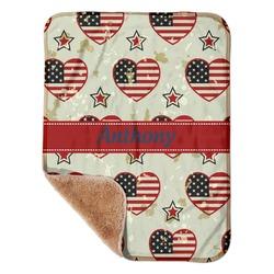 "Americana Sherpa Baby Blanket 30"" x 40"" (Personalized)"