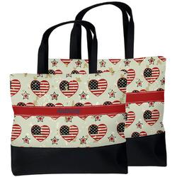 Americana Beach Tote Bag (Personalized)